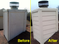 Before-And-After Picture of a Chimney Repair in Dallas, Texas